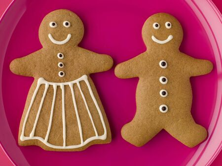 Gingerbread Man and Gingerbread Woman Stock Photo - 3600477
