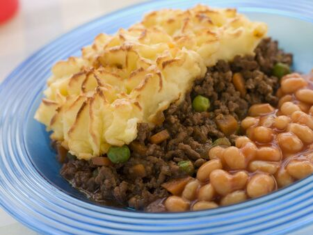 mincing: Cottage Pie and Baked Beans