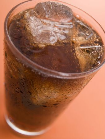 Glass of Cola with Ice Cubes Stock Photo - 3600101