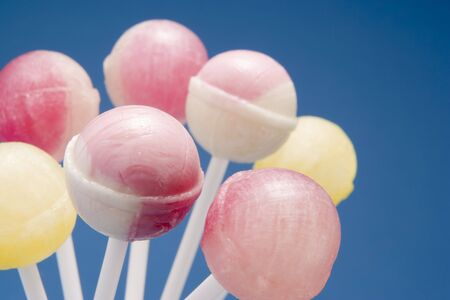 confectionary: Selection of Candy Lollipops Stock Photo