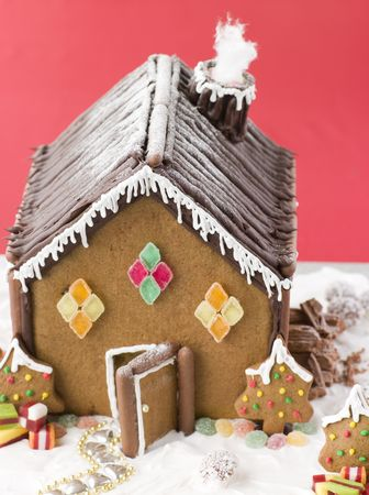 confectionary: Gingerbread House Stock Photo