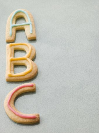 ABC Shortbread Biscuits Stock Photo - 3599974