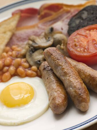bacon baked beans: Full English Breakfast