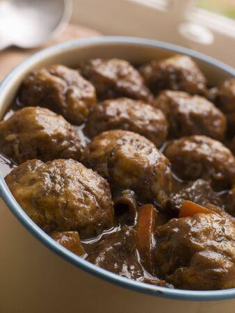 uk cuisine: Beef Stew and Herb Dumplings