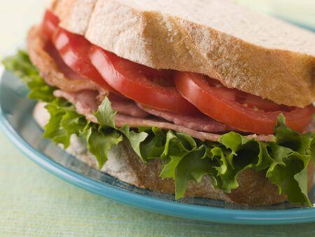 european cuisine: BLT on white bread