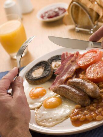 comida inglesa: El comer un desayuno completo Ingl�s