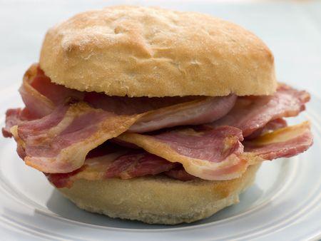 uk cuisine: Bacon Bread Roll