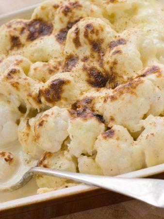 Dish of Cauliflower Cheese Stock Photo - 3449534
