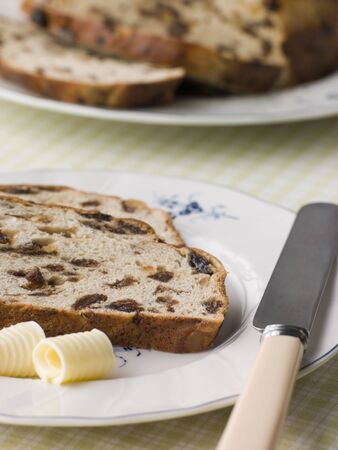 Slice of Barm Brack with Butter photo