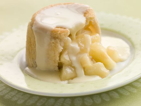 custard apple: Hot Apple Charlotte with Custard