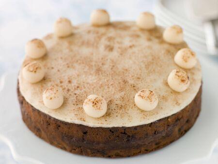 fruitcake: Simnel Cake Stock Photo