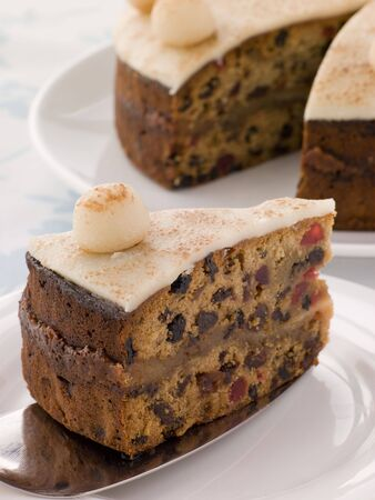 Slice of Simnel Cake Stock Photo - 3476849