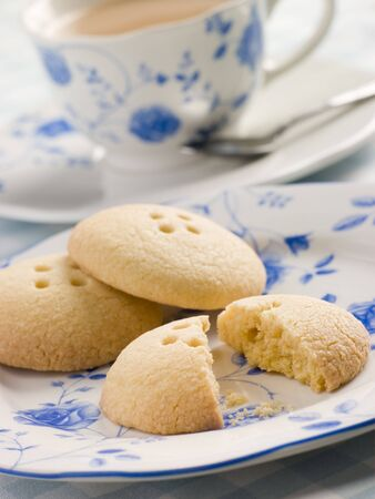 Wellington Button Biscuits with a Cup of Tea photo