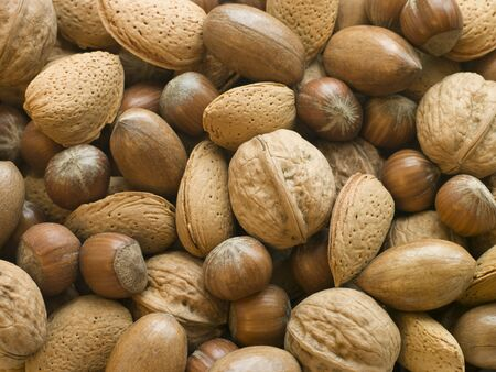 Selection of Mixed Nuts in Shell photo