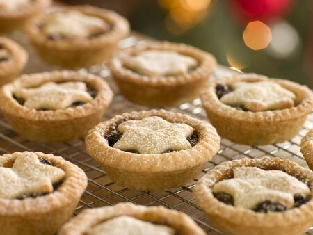 mince pie: Mince Pies on a Cooling rack