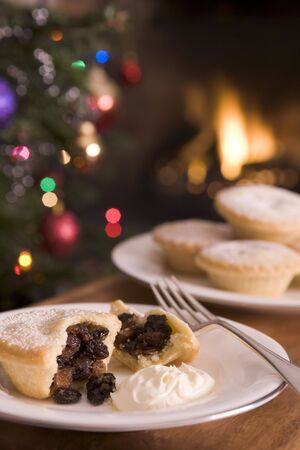 Mince Pie with Brandy Cream photo