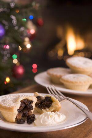 carne picada: Picar Pie con crema de brandy  Foto de archivo