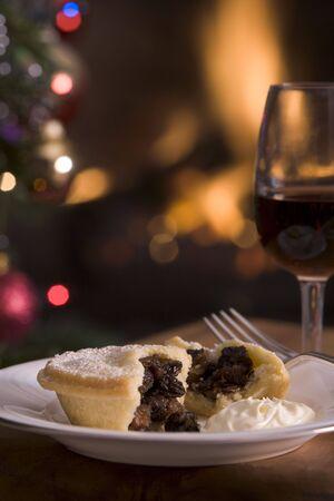 carne picada: Picar Pie con crema de Brandy y un vaso de Sherry