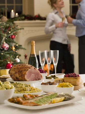 comida de navidad: D�a de San Esteban buffet Almuerzo de Navidad �rbol de Fuego y Registrarse
