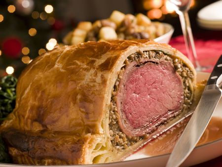 Carved Beef Wellington Stock Photo - 3726353