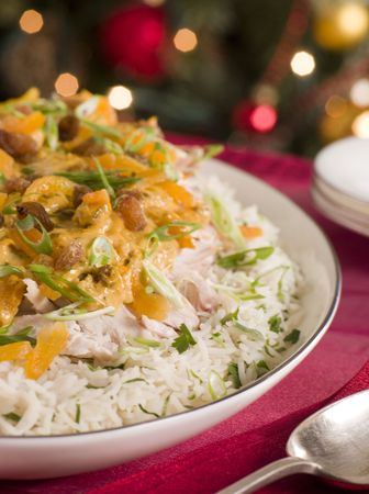 Coronation Turkey Rice Salad Stock Photo - 3603396