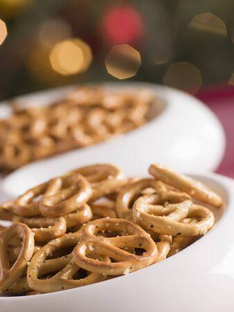 nibbles: Bowl of Salted Pretzels