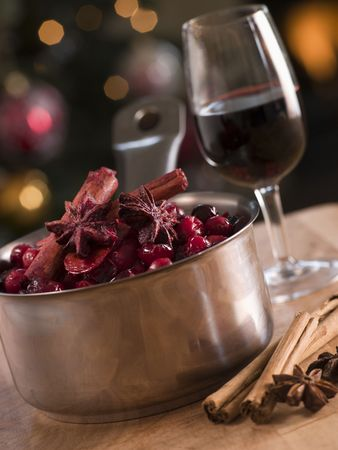 Cranberry Sauce and Ingredients Stock Photo - 3603687
