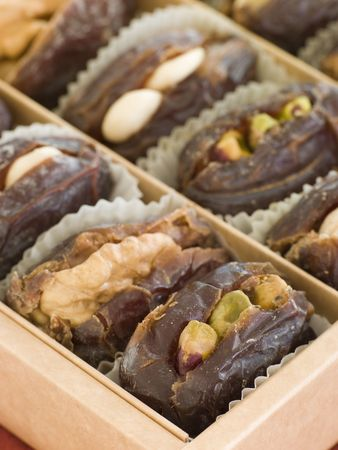 marzipan: Dates stuffed with Nuts and Marzipan
