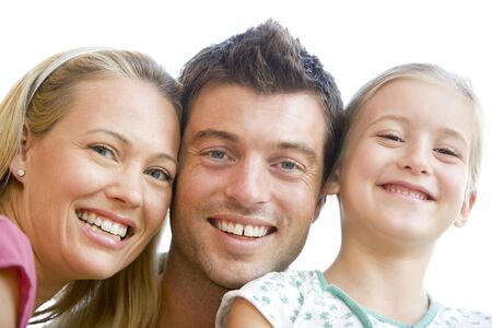 Family together smiling Stock Photo - 3601768