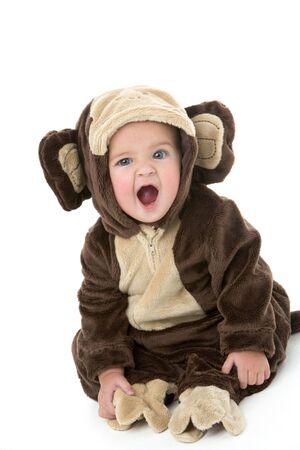 Baby in monkey costume photo