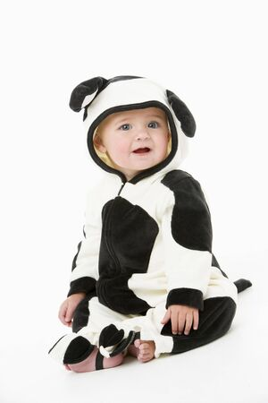 Baby in cow costume photo