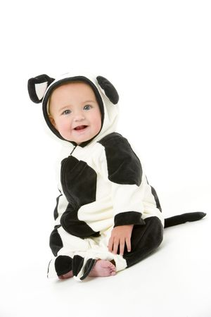 Baby in cow costume Stock Photo - 3600520