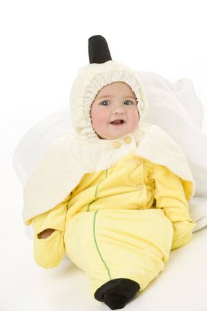Baby in banana costume photo