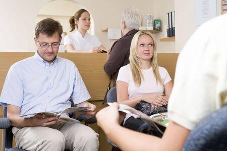 Pacjent: Poczekalni i recepcji