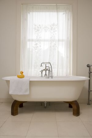 bathtubs: Empty bathroom