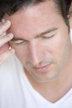Head shot of man scowling Stock Photo - 3486161