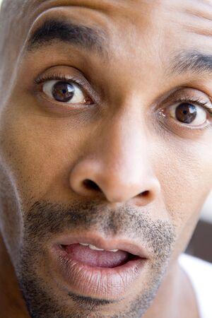 Head shot of surprised man Stock Photo - 3488163