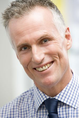 Head shot of man smiling photo