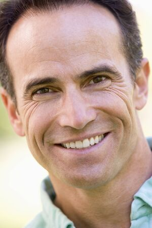 fourties: Head shot of man smiling