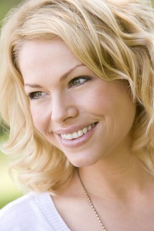 Head shot of woman smiling Stock Photo - 3487162