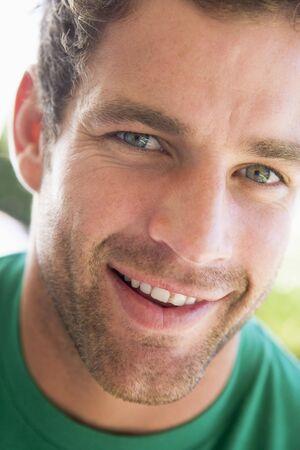 generation x: Head shot of man smiling