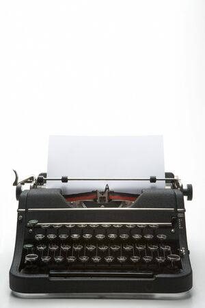 Studio Shot Of An Old Fashioned Typewriter photo