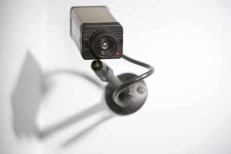 tv camera: Security Camera Stock Photo