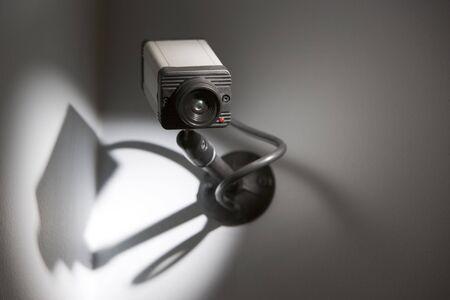 scrutiny: Security Camera Stock Photo