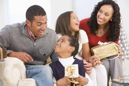 Family Portrait At Christmas Stock Photo - 3724865