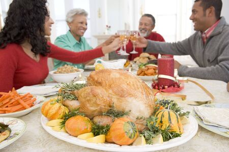 Family All Together At Christmas Dinner Stock Photo - 3724955