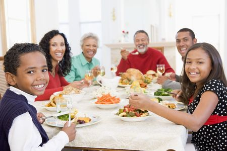 Family All Together At Christmas Dinner Stock Photo - 3724813
