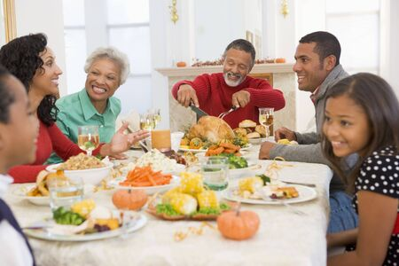 Family All Together At Christmas Dinner Stock Photo - 3726460