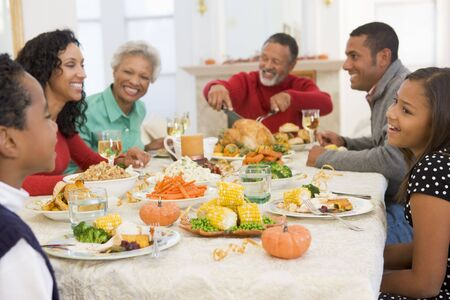Family All Together At Christmas Dinner Stock Photo - 3726465
