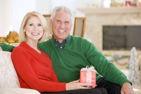 Mature Couple At Christmas Stock Photo - 3726451